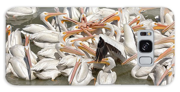 American White Pelicans Galaxy Case by Eunice Gibb