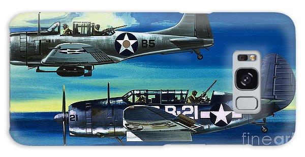 American Ww2 Planes Douglas Sbd1 Dauntless And Curtiss Sb2c1 Helldiver Galaxy Case by Wilf Hardy
