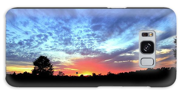 City On A Hill - Americus, Ga Sunset Galaxy Case by Jerry Battle