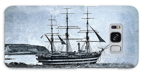 Amerigo Vespucci Sailboat In Blue Galaxy Case