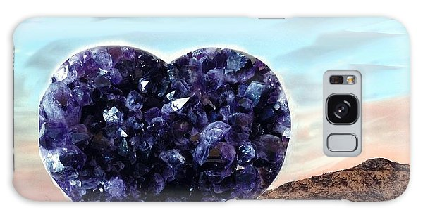 Amethyst Vortex Heart Sedona Galaxy Case by Marlene Rose Besso