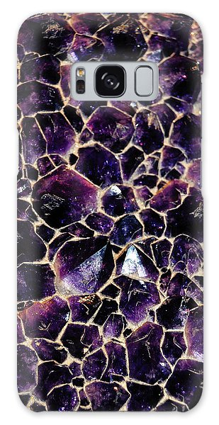 Galaxy Case featuring the photograph Amethyst Quartz Crystal Smithsonian by Kyle Hanson