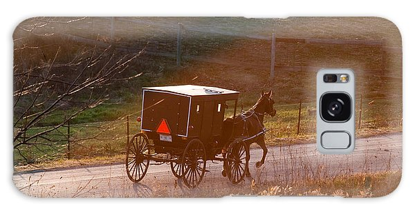 Amish Buggy Afternoon Sun Galaxy Case