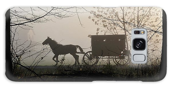 Amish Buggy Foggy Sunday Galaxy Case