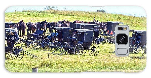 Amish Hillside Galaxy Case