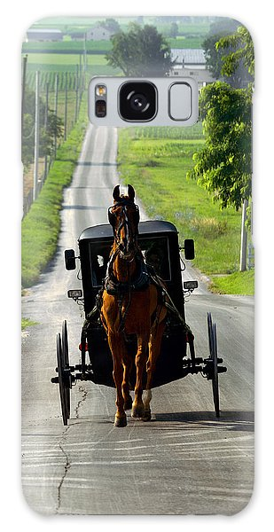 Amish Morning Commute Galaxy Case by Lawrence Boothby
