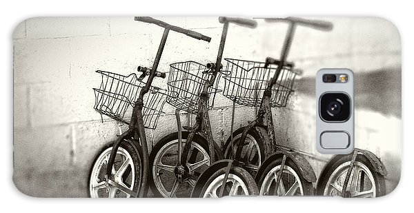 Amish Scooters In Black And White Galaxy Case