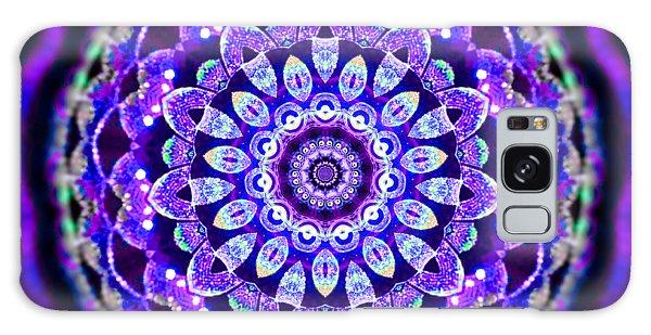 Galaxy Case featuring the digital art Ammersee Cropcircle Lightmandala Morph by Robert Thalmeier