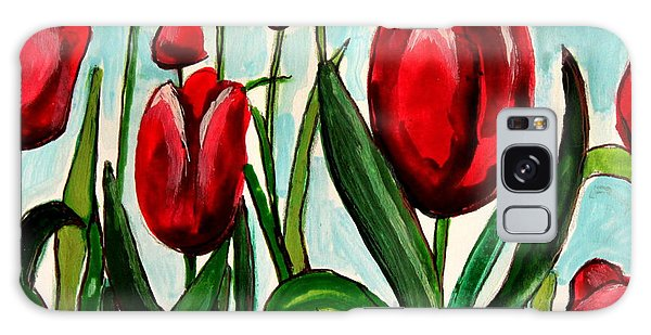 Among The Tulips Galaxy Case