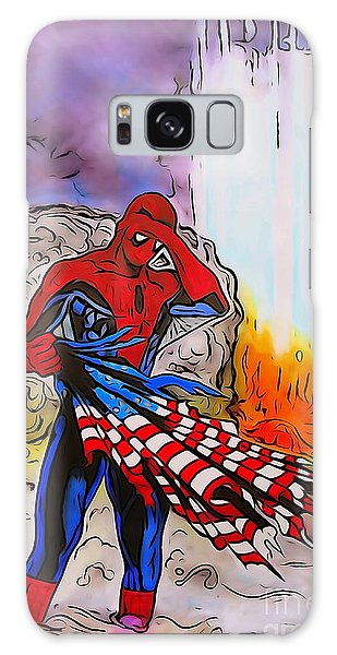 Us Civil War Galaxy Case - Ams 9/11 Tribute Watercolor Edition by Justin Moore
