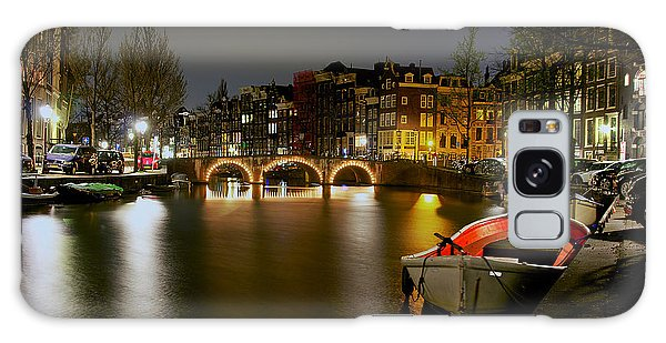 Amsterdam At Night Galaxy Case