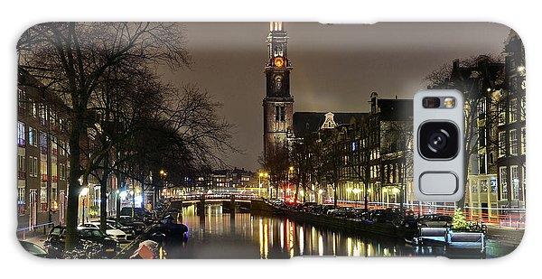 Amsterdam By Night - Prinsengracht Galaxy Case