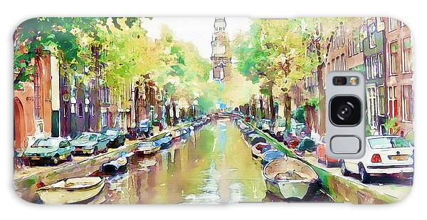 Scenery Galaxy Case - Amsterdam Canal 2 by Marian Voicu