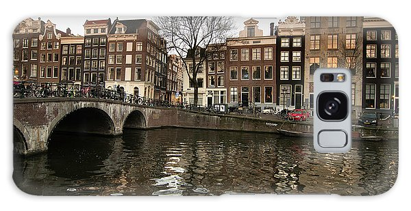 Amsterdam Canal Bridge Galaxy Case