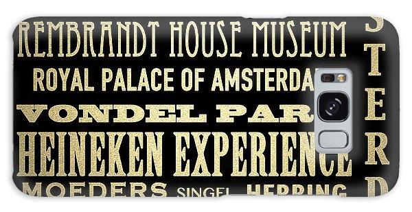 Amsterdam Famous Landmarks Galaxy Case
