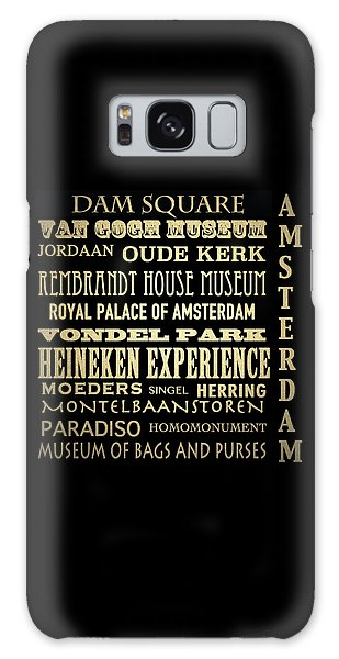 Amsterdam Famous Landmarks Galaxy Case