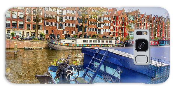 Amsterdam Houseboats Galaxy Case by Nadia Sanowar