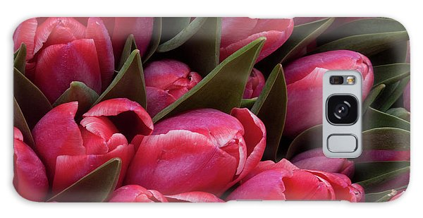 Amsterdam Red Tulips Galaxy Case