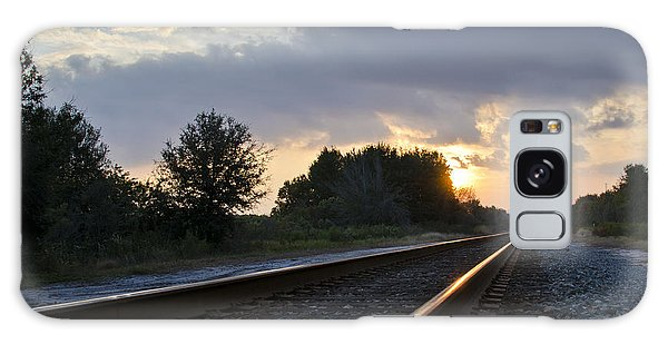 Galaxy Case featuring the photograph Amtrak Railroad System by Carolyn Marshall
