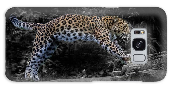 Amur Leopard On The Hunt Galaxy Case