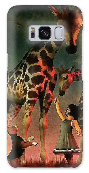 Amy And Buddy With The Giraffes Galaxy Case
