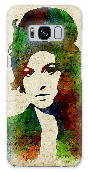 Amy Winehouse Watercolor Galaxy Case