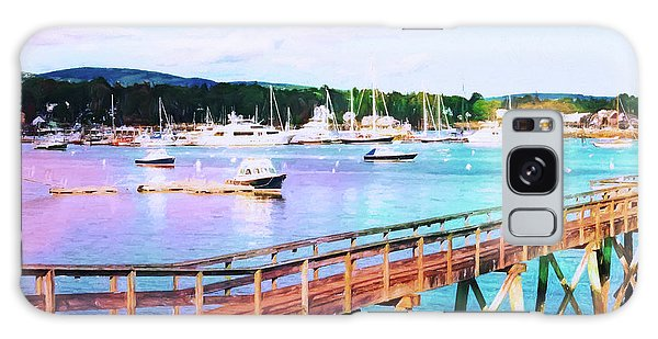 An Abstract View Of Southwest Harbor, Maine  Galaxy Case