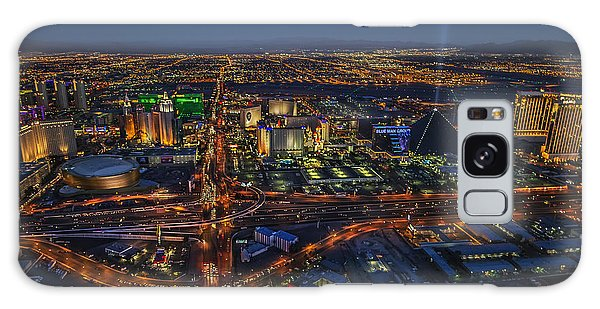 An Aerial View Of The Las Vegas Strip Galaxy Case by Roman Kurywczak