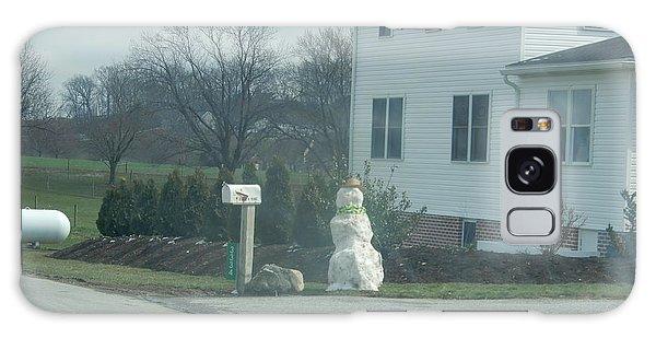 An Amish Snowman Galaxy Case