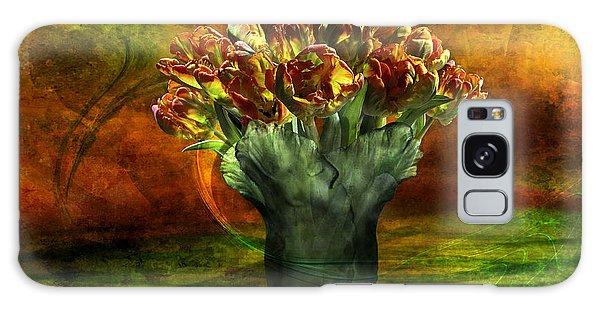 An Armful Of Tulips Galaxy Case