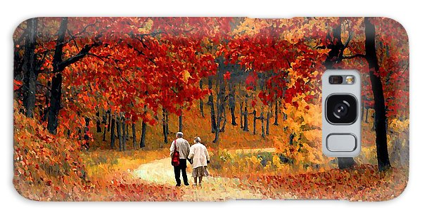 An Autumn Walk Galaxy Case