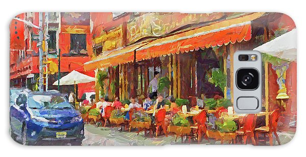 Galaxy Case featuring the digital art An Early Lunch On Mulberry Street by Digital Photographic Arts
