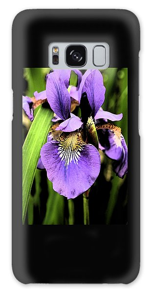 An Iris Portrait - Botanical Galaxy Case