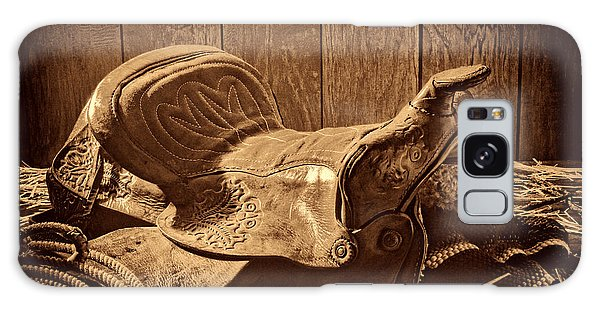 An Old Saddle Galaxy Case by American West Legend By Olivier Le Queinec
