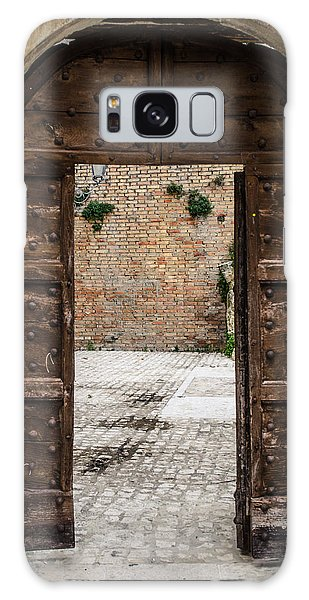 An Old Wooden Door 2 Galaxy Case by Andrea Mazzocchetti