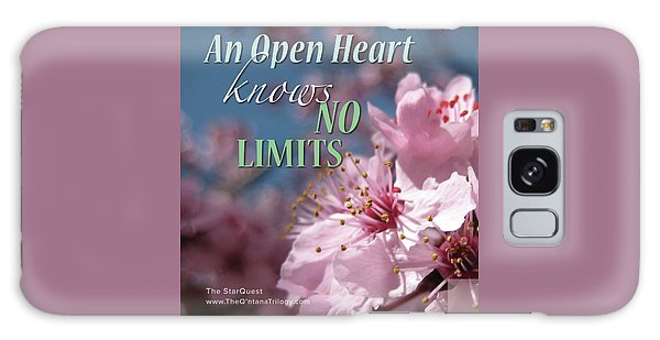 An Open Heart Knows No Limits Galaxy Case by Mark David Gerson