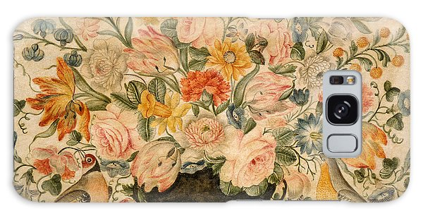 Decorative Galaxy Case - An Urn Containing Flowers On A Ledge by Octavianus Montfort