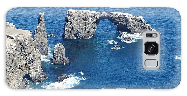 Anacapa Island Arch Rock Galaxy Case
