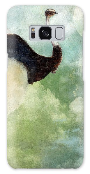 Ostrich Galaxy Case - Anastasia's Ostrich by Mindy Sommers