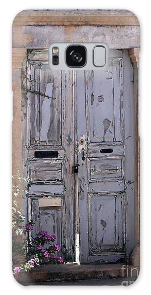 Ancient Garden Doors In Greece Galaxy Case