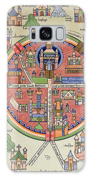 Colours Galaxy Case - Ancient Map Of Jerusalem And Palestine by French School