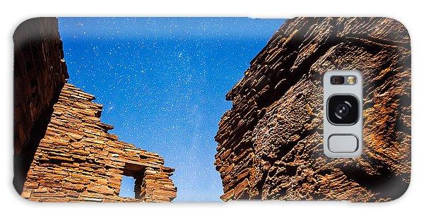Ancient Native American Pueblo Ruins And Stars At Night Galaxy Case