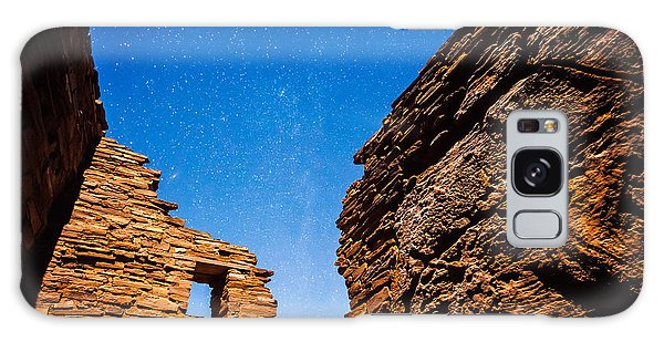 Ancient Native American Pueblo Ruins And Stars At Night Galaxy Case