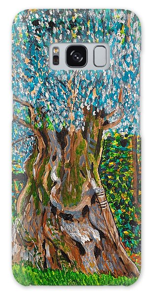 Ancient Olive Tree Galaxy Case