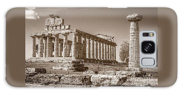 Ancient Paestum Architecture Galaxy Case