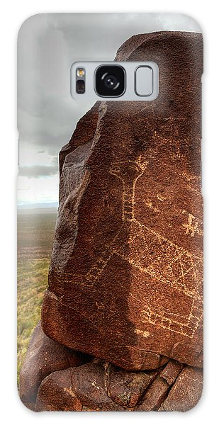 Ancient Petroglyph At Three Rivers Petroglyph Site Galaxy Case