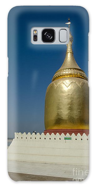 Ancient Riverside Stupa Along The Irrawaddy River In Burma Galaxy Case by Jason Rosette