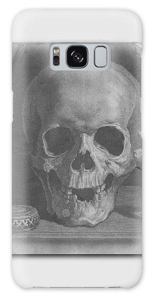 Halloween Galaxy Case - Ancient Skull Tee by Edward Fielding