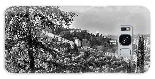 Ancient Walls Of Florence-bandw Galaxy Case