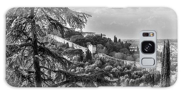Ancient Walls Of Florence-bandw Galaxy Case by Sonny Marcyan